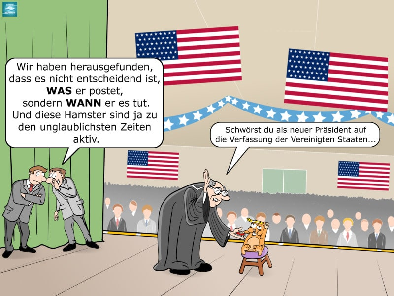 Cartoon Big Data Wahlkampf