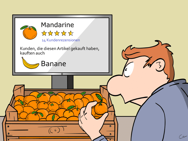 Amazon Go Cartoon Rezension Bewertung