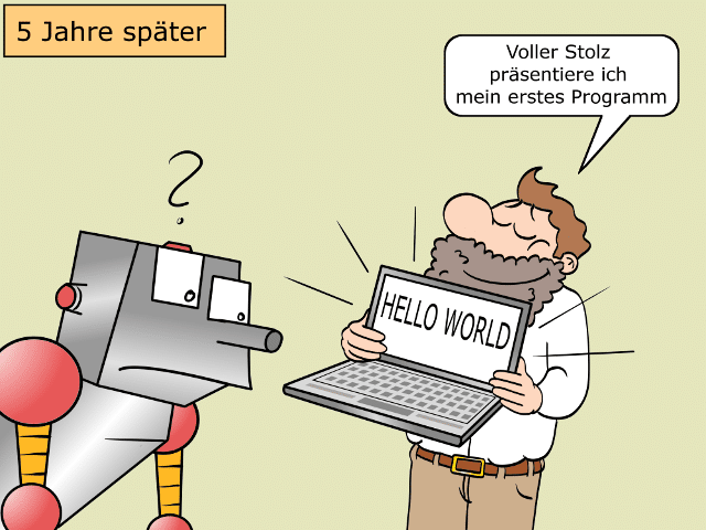 Digitaler Analphabet Cartoon 4