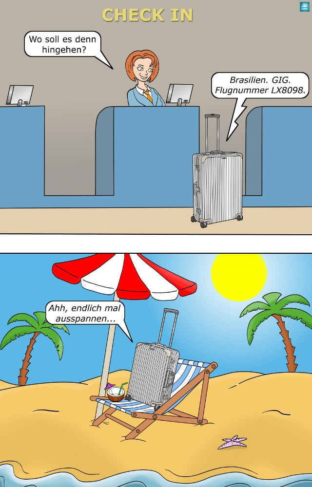 smarter Koffer Rimowa Cartoon
