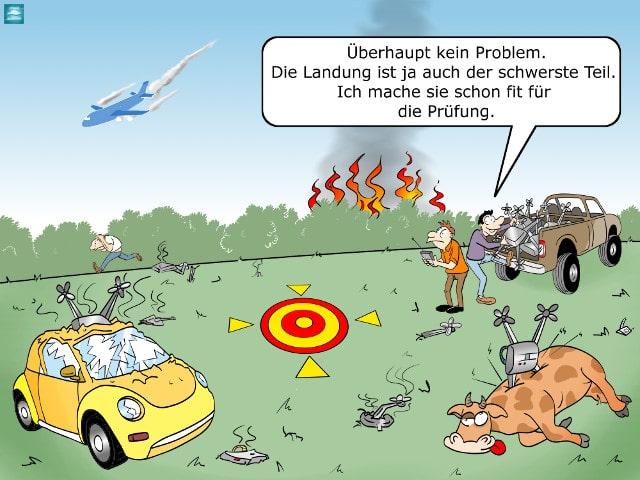 Drohnen-Führerschein Cartoon