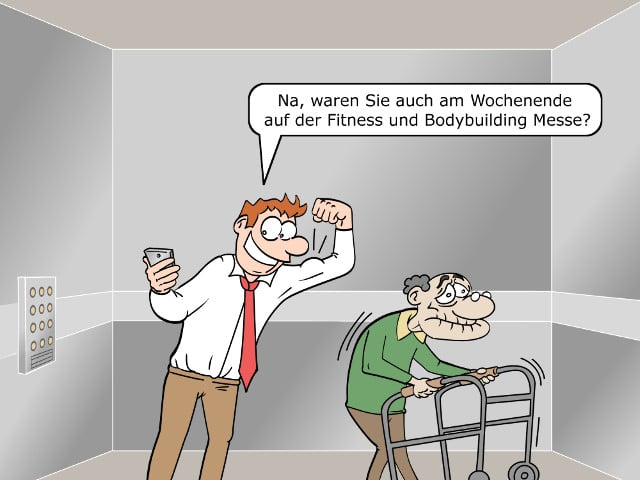 Facebook-Messenger Smalltalk Cartoon Bild 1