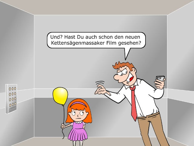 Facebook-Messenger Smalltalk Cartoon Bild2