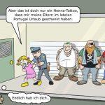 Tattoo Erkennung Algorithmen FBI Cartoon