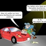 Autonomes Fahren Strafe Verhaftung Cartoon
