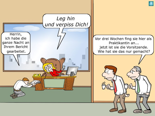 Just Not Sorry-App Vorgesetzter Büro Cartoon