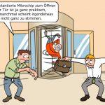 Mikrochip Implantat Türöffnen Cartoon
