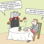 Roboter-Koch Roboter KüchensystemCartoon