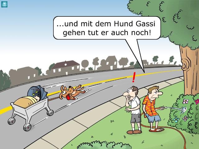 Selbstfahrender Kinderwagen Cartoon