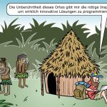 Digitale Nomaden Cartoon