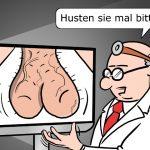 Diganose Online Arzt Cartoon