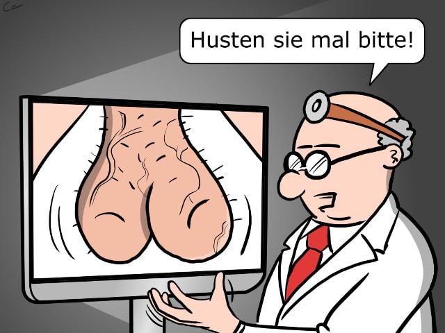 Telemedizin Dignose Online Arzt Cartoon