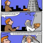 Amazon Drohnen-Bienenstock Cartoon Webcomic