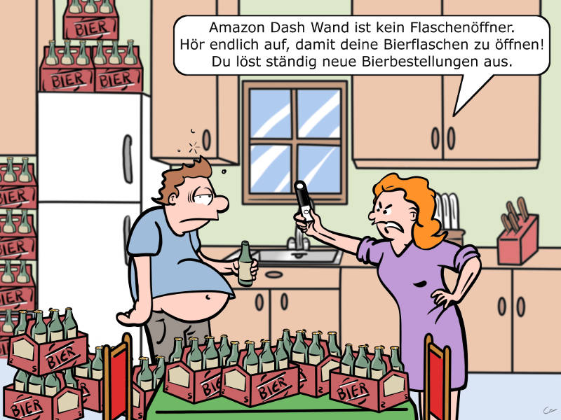 Amazon Dash Wand Cartoon