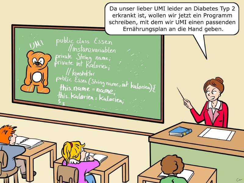 Programmieren Grundschule Umi Cartoon