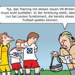 Fußballtraining Virtual Reality VR-Brille HSV