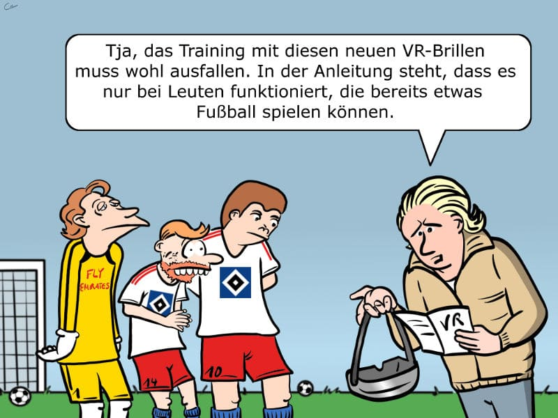 Fußballtraining Virtual Reality VR-Brille HSV