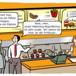Matching-Algorithmen in der Praxis Cartoon