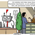 Chatbot Kundenservice Beratung Cartoon