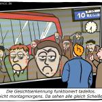 Gesichtserkennung Bahnhof