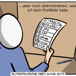 Social Bot Wahl Cartoon