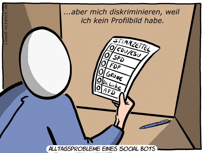 Social Bot Wahl Cartoon