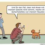 iPhone X Gesichtserkennung Passwort vergessen Cartoon
