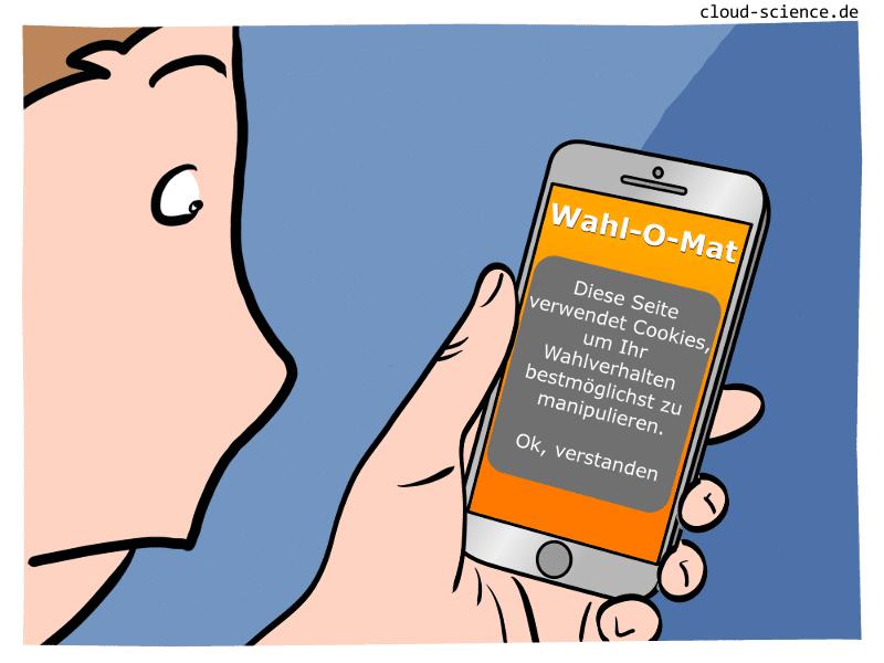 Wahl-O-Mat Cartoon zur Bundestagswahl 2017