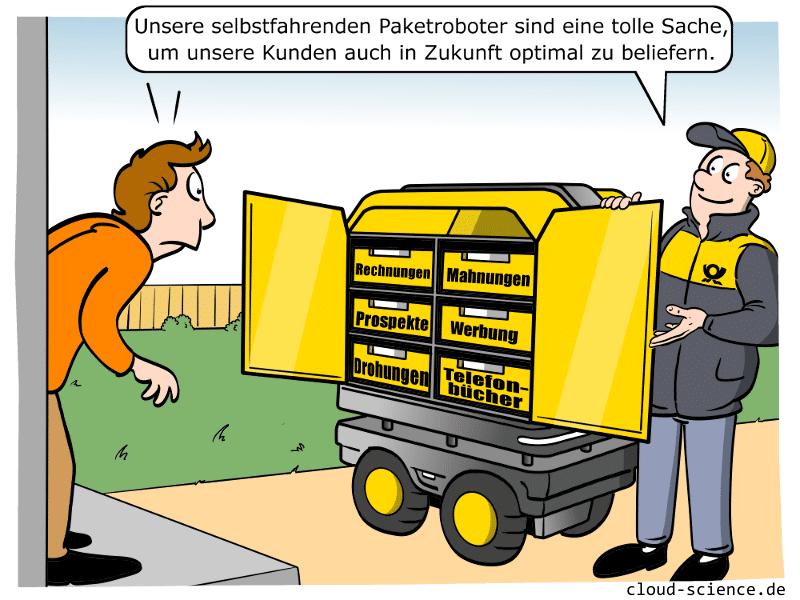 Begleitroboter für Briefträger