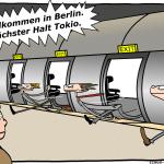 Hyperloop Cartoon