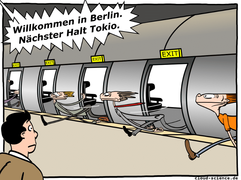 Hyperloop Cartoon