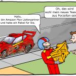 Amazon Flex Cartoon