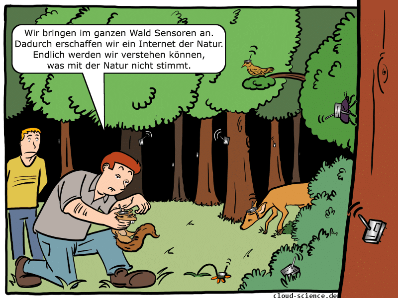 Internet der Natur Cartoon