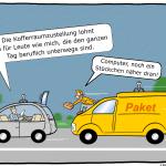Logistik 4.0 Kofferraumzustellung selbstfahrendes Auto