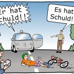 Recht Haftung selbstfahrendes Auto autonomes fahren Karikatur Cartoon