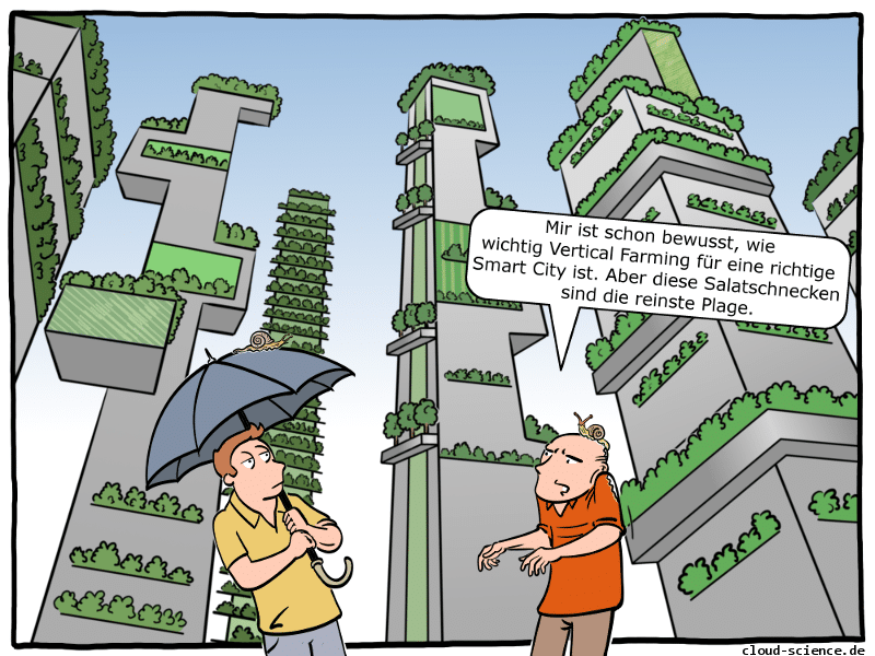 Vertical Farming Cartoon