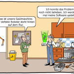 Augmented Reality in der Industrie 4.0 Cartoon
