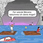 Bitcoin Mining Klima Umwelt Cartoon