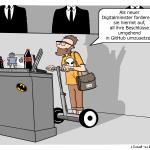 Digitalminister Cartoon