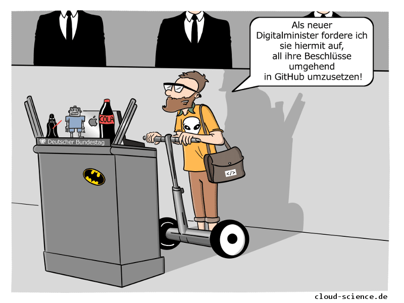 Digitalminister Cartoon