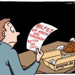 Amazon Arbeitsbedingungen Cartoon