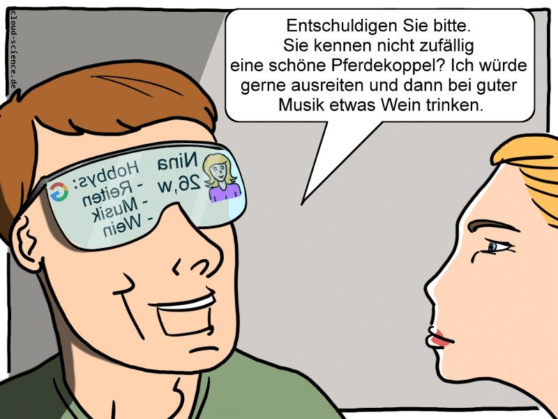 Datenbrille Cartoon