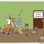Selfitis Selbsthilfegruppe Cartoon