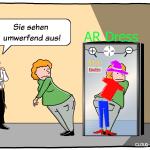 Augmented Reality Anprobe AR-Dress Mirror Cartoon