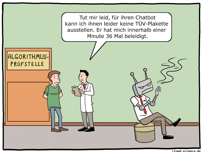 Algorithmus-TÜV-Cartoon