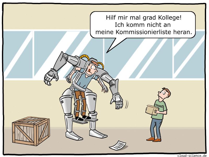 Exoskelett Cartoon