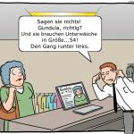 Tracking im Einzelhandel Cartoon