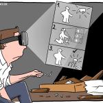 AR-Brille für Montage Cartoon