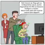 IoT internet der Dinge Cartoon