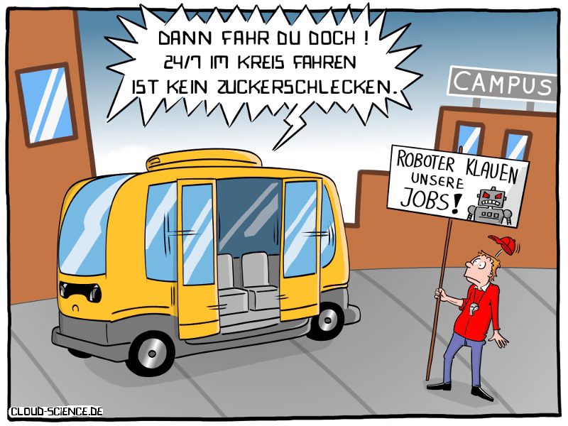 Roboterbus Cartoon